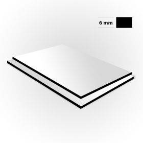 Aluminium sandwichplaat wit 6mm
