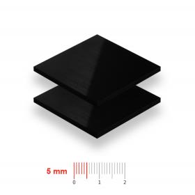 Geschuimd PVC zwart 5mm