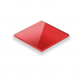 Plexiglas Rood 3mm